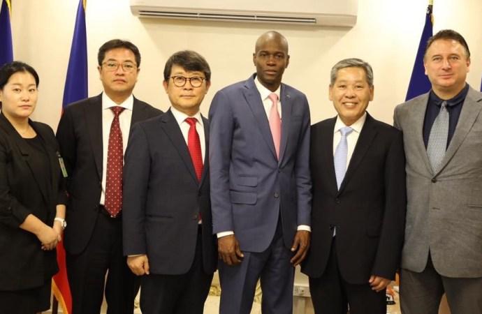 Jovenel Moïse negocie 12 mille emplois avec la compagnie de textile sud-coréenneS&H Global S.A