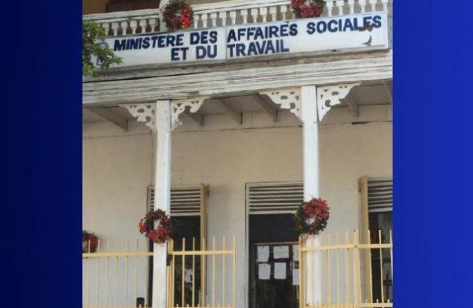 Arrêt de travail au Ministère des Affaires Sociales