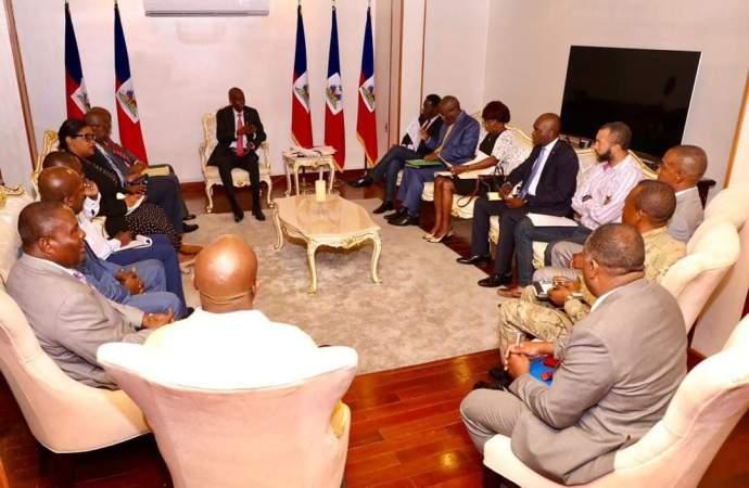Haïti-Crise: Réunion de haut niveau  palais national, Jovenel Moïse donne des consignes