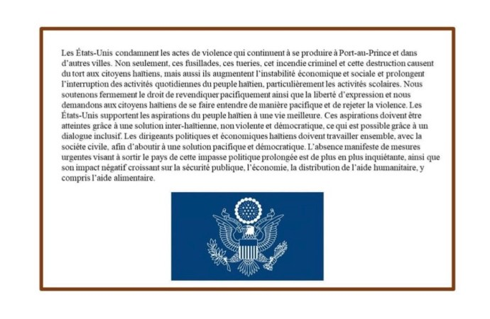Nouvel appel au dialogue des États-Unis en moins d'une semaine