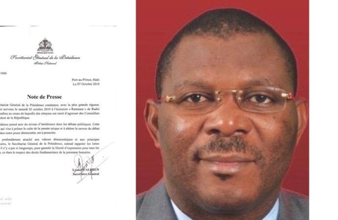 Tentative d'agression contre Jude Charles Faustin, la Présidence condamne