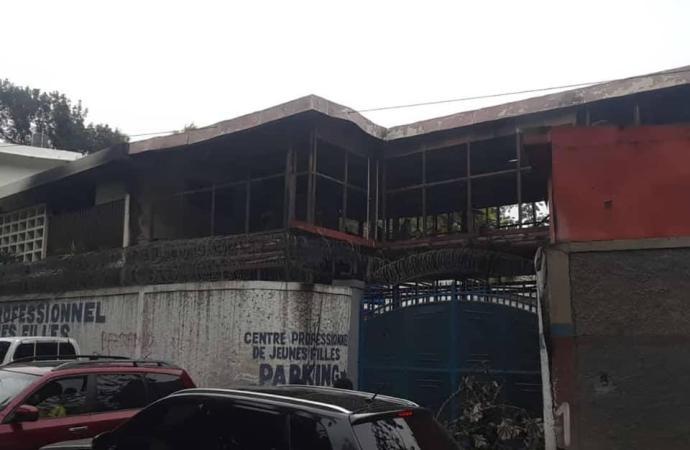 Incendie au Centre Professionnel des Jeunes  Fille