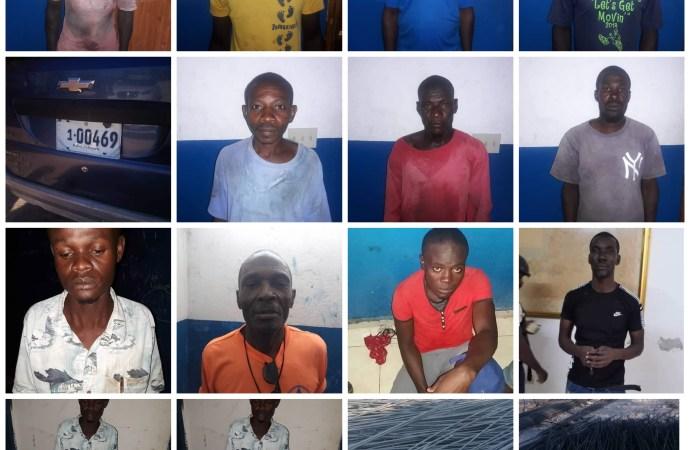 Huit présumés bandits arrêtés par les forces de l'ordre