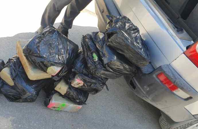 Belladère: 112 kilogrammes de cannabis saisis par des agents douaniers