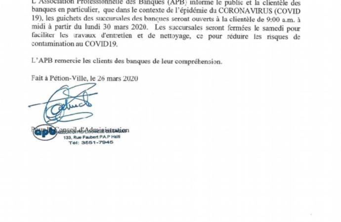 Economie-Coronavirus: Nouvelle modification des horaires des banques envisagée