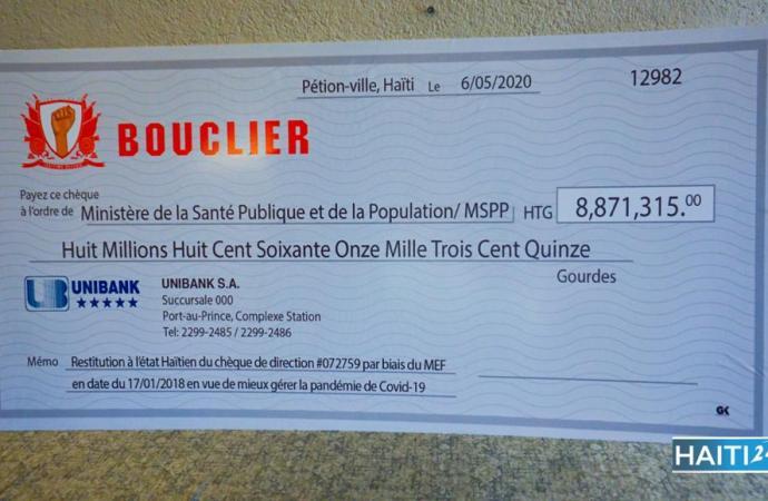 Covid-19-Politique : la plate-forme Bouclier offre 8 millions de gourdes au MSPP