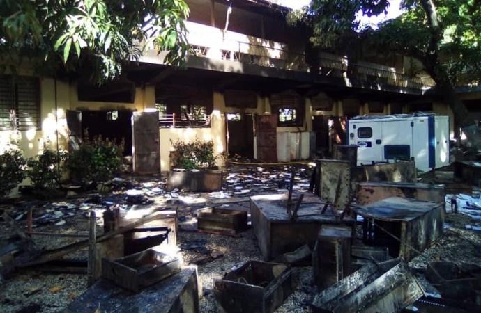 Une partie de la Faculté d'Agronomie et de Médecine Vétérinaire incendiée