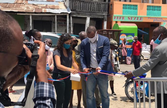 Gonaïves: Enfin un bloc sanitaire pour le marché communal de la ville