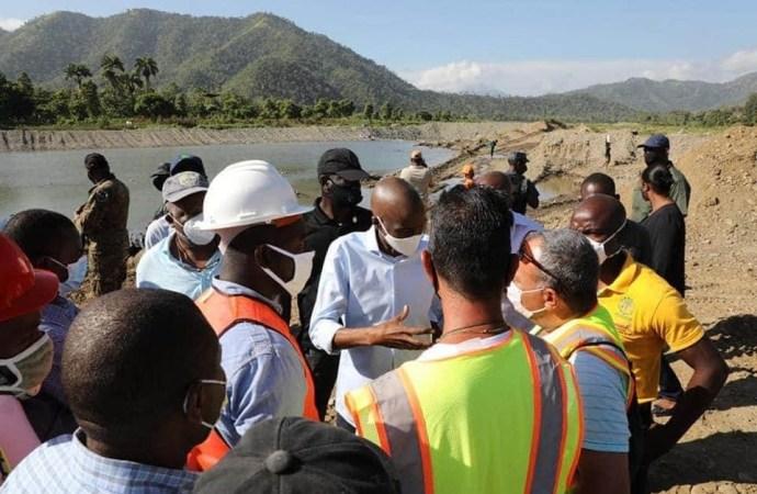 Jovenel Moïse veut remettre en état le système d'irrigation de La Tannerie