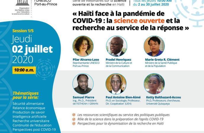 Crise sanitaire: l'UNESCO à la recherche de solutions durables
