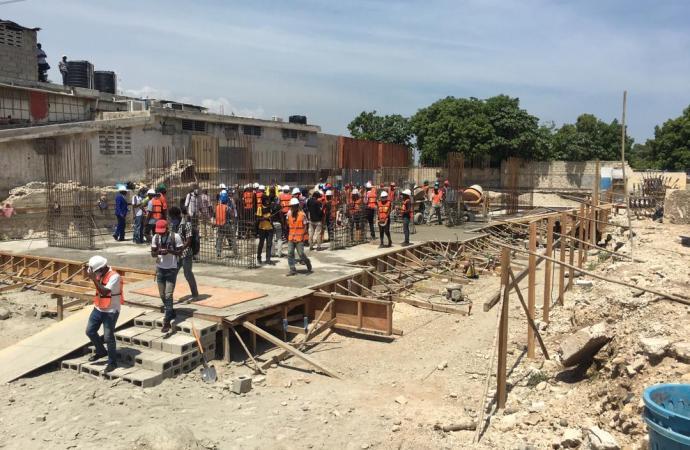 Démarrage des travaux de reconstruction des lycées Marie Jeanne et des jeunes Filles