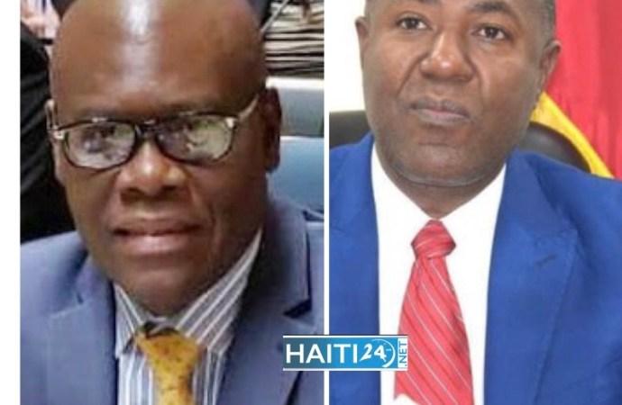 Joseph Jouthe, satisfait du travail du ministre du Commerce, lui témoigne sa solidarité
