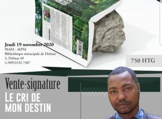 Kervens Roméus en vente-signature ce 19 novembre