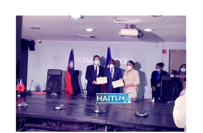 Vers le renforcement des capacités du CAN : Haïti et Taïwan signent un accord