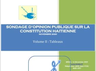 BRIDES-Sondages : 87% de la population favorables à une nouvelle Constitution