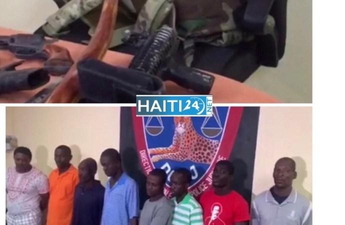 Opération policière à Canaan : 8 individus appréhendés, 4 armes à feu, 87 badges des FAD'H et 28 téléphones confisqués