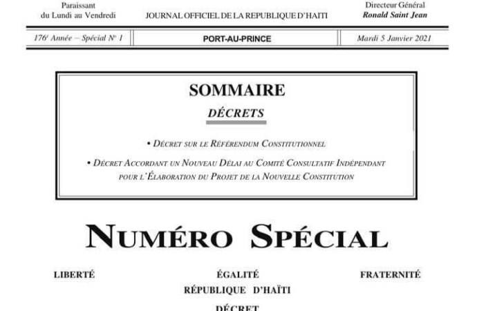Nouvelle Constitution : le CEP doté d'un cadre légal pour l'organisation du référendum