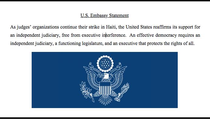 Les États-Unis réaffirment leur soutien à un pouvoir judicaire indépendant en Haïti
