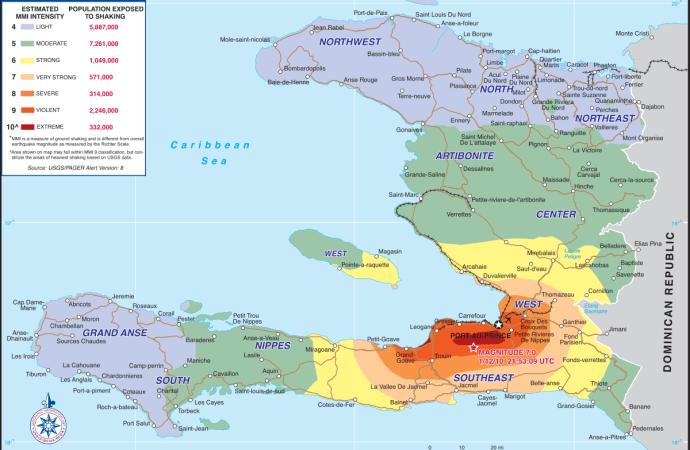 Nouvelles secousses sismiques ressenties, ce mardi, dans les Nippes et le Sud