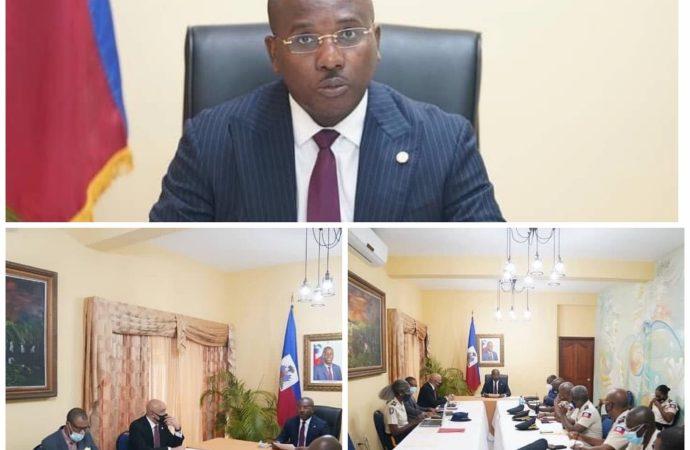 Insécurité : le Premier ministre a.i. Claude Joseph a dirigé son premier CSPN