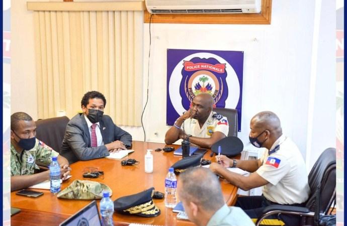 Kidnapping : Importante réunion entre le haut commandement de la PNH et des experts colombiens