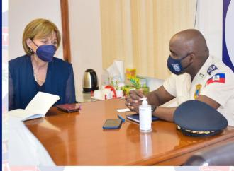 Rencontre entre la représentante spéciale du Secrétaire Général de l'ONU et le DG de la PNH