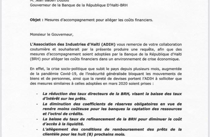 Crise économique : L'Association des Industries d'Haïti appelle la BRH à adopter de nouvelles mesures pour alléger les coûts financiers des entreprises