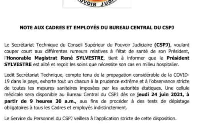 Justice-Covid-19 : tous les employés du CSPJ seront dépistés