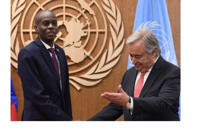 L'ONU condamne l'assassinat du président Jovenel Moïse