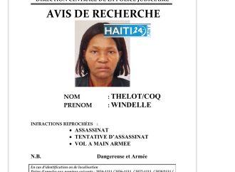 La PNH lance un avis de recherche contre la juge Windelle Coq Thélot