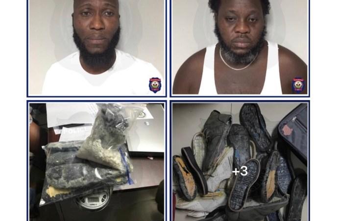 Arrestation de deux présumés dealers de drogue à l'aéroport de Toussaint Louverture