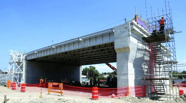 Overpass Construction Underway In Delmas