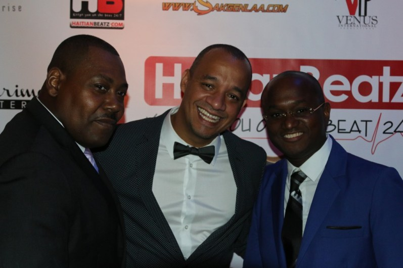 Comedian Kako Bourjoly (middle)