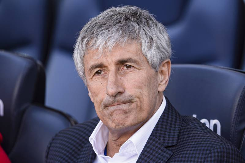 Quique Setien Talks Barcelona's UCL Hopes