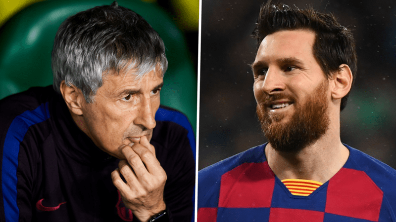 The title or the sack? Barcelona boss Setien must win over Messi to win La Liga