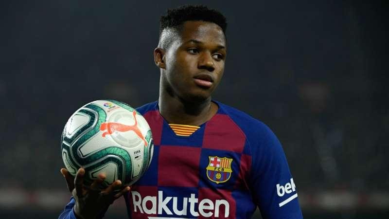 Father of Barcelona wonderkid Ansu Fati responds to Man Utd transfer links