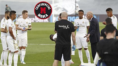 Zidane scolds his players for the second half performance