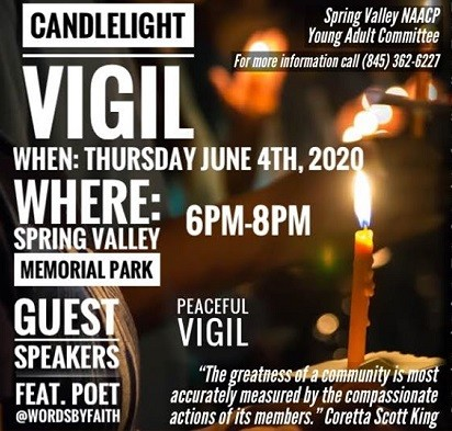Spring Valley vigil to call for unity, new path forward
