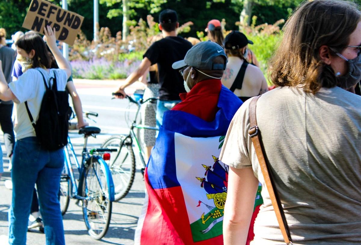 BLM, Black Lives Matter protest, Brooklyn, Haitians