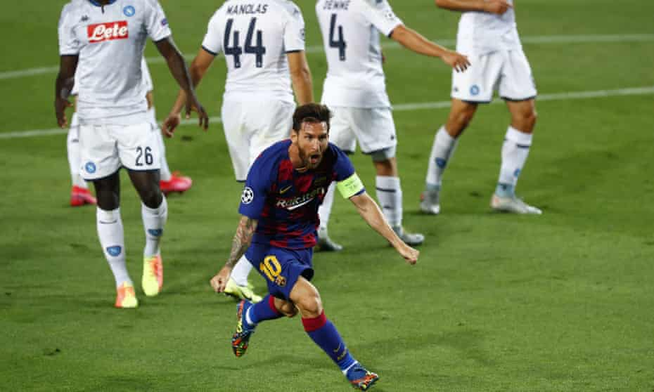 Lionel Messi magic sinks Napoli and puts labouring Barcelona through