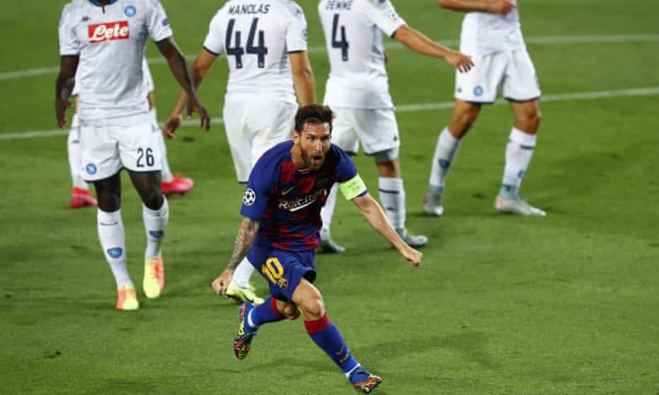 Lionel Messi magic sinks Napoli and puts labouring Barcelona through