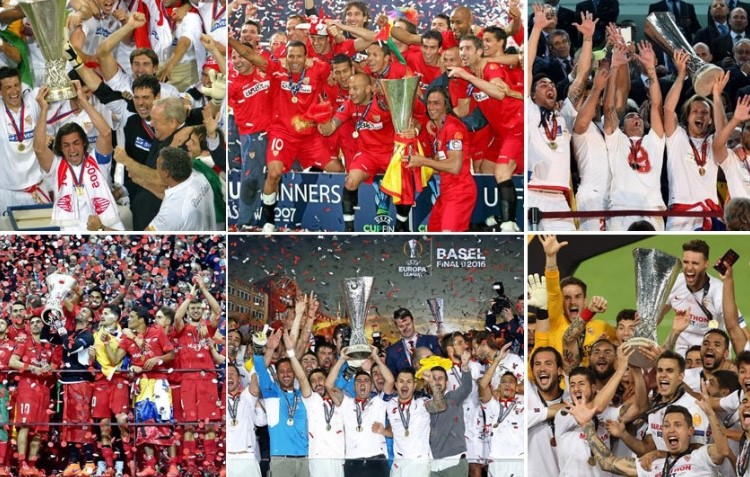 Six in six: Sevilla have won every Europa League final they have played in