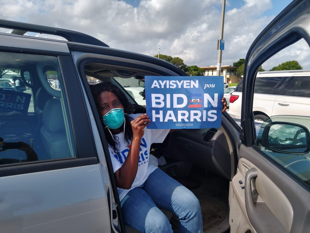 At Biden rally, Haitian-Americans in Broward County display eager support