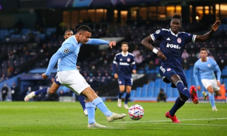 Manchester City's Gabriel Jesus returns with a bang in win over Olympiakos
