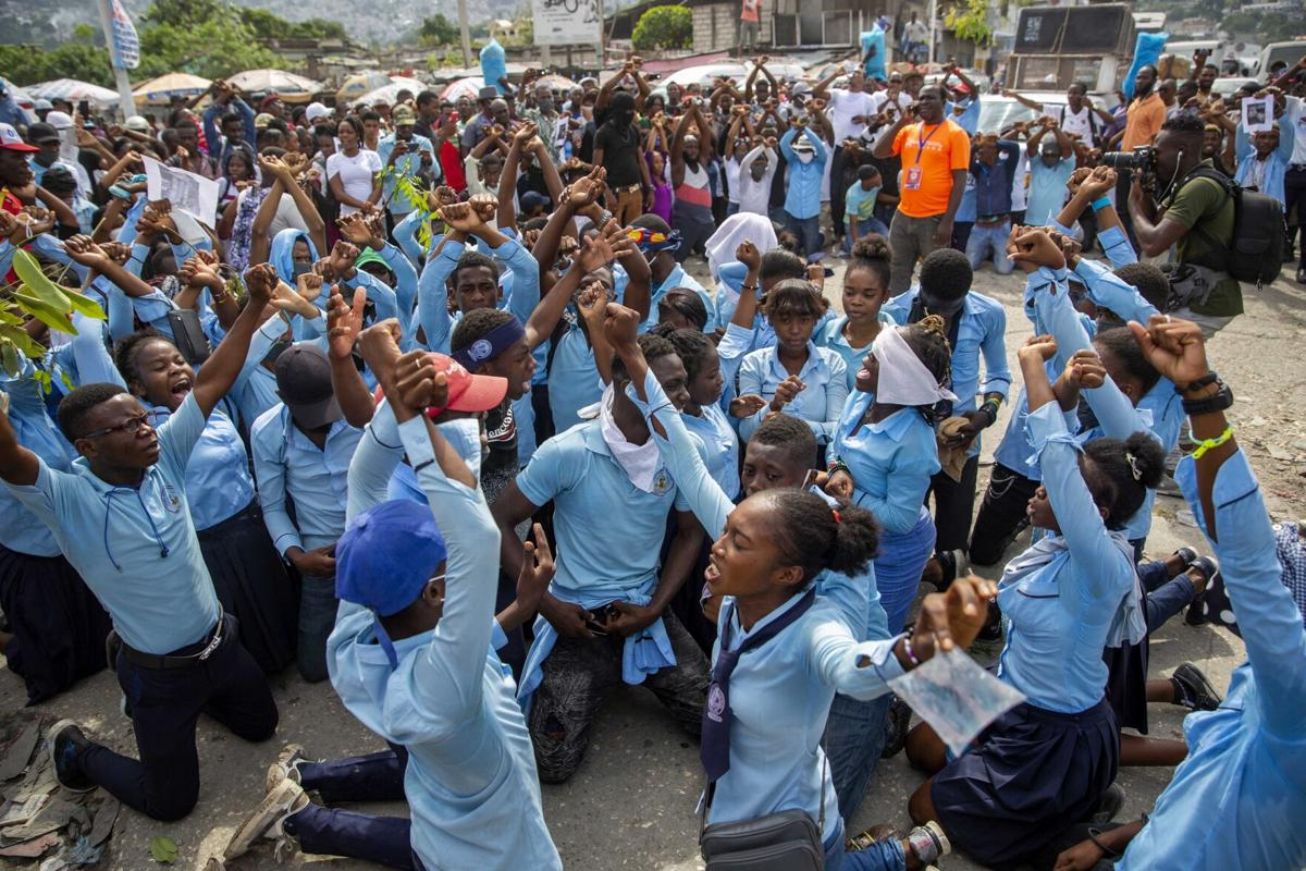 students protest for Evelyne sincere