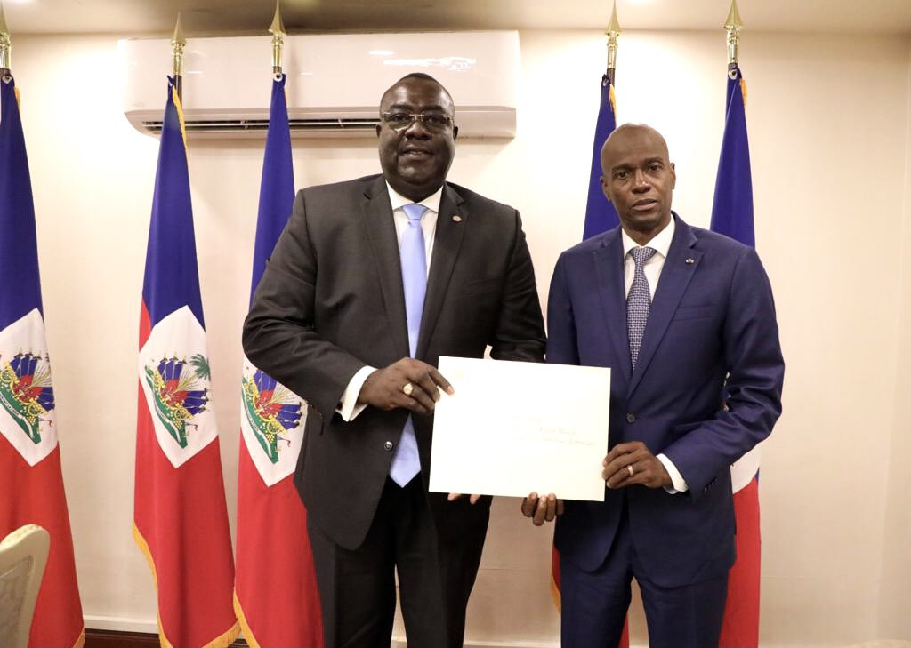 Bocchit Edmond appointed as Haiti's Ambassador to the US