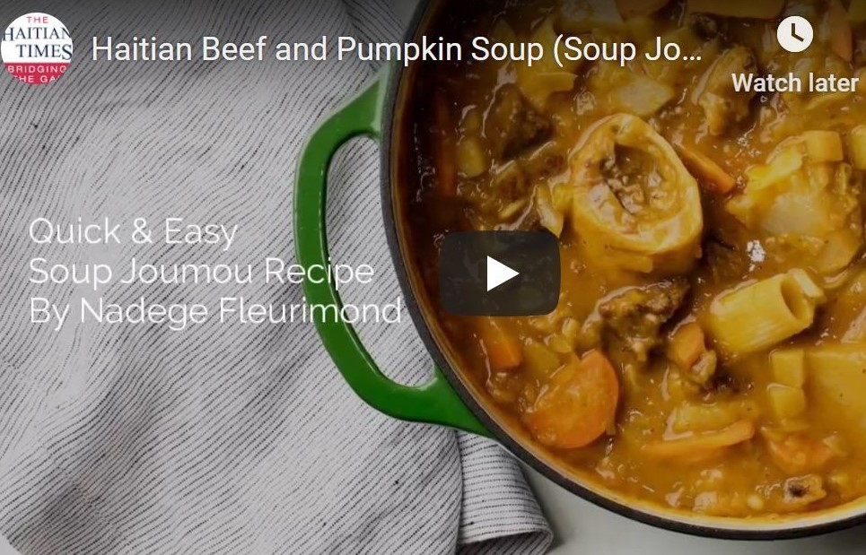 Soup Joumou: Haitian Beef and Pumpkin Independence Soup Recipe by Nadege Fleurimond