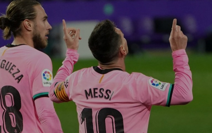 Messi played his 750th game for Barcelona