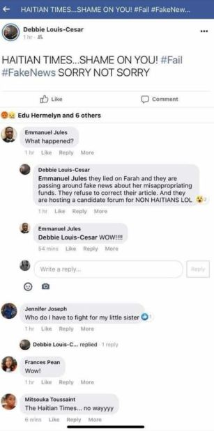 debbie louis facebook post