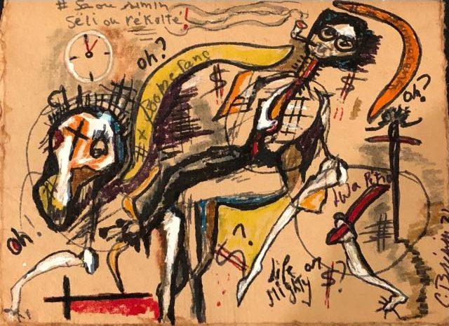 boomerang painting haitian art